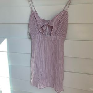 (NWT) Honey Punch - Pink and White Striped Dress